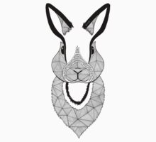 Rabbit black and white Kids Clothes