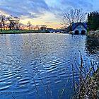 Carton boathouse Sunset by DES PALMER