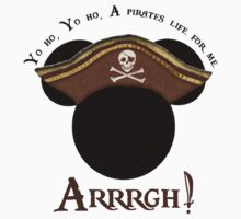 Mickey Pirate Head ~ A pirates life for me Kids Clothes