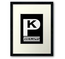 Rho Kappa Shirt Framed Print