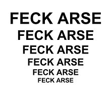 Father Ted Inspired 'Feck Arse' Artwork by ComedyQuotes
