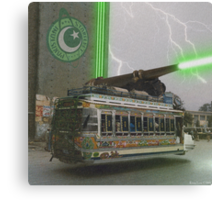 Our Top Secret Bedford Bus Mounted Directed Energy Torpedo Cannon Canvas Print