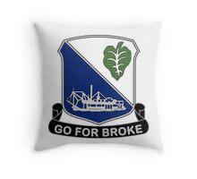 442nd Infantry Regiment - Go For Broke Throw Pillow