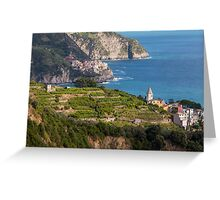 Cinque Terre vineyards Greeting Card