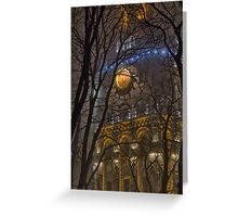 Water Tower At Night 1 Greeting Card