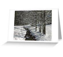 A Creek Runs Through It. Greeting Card