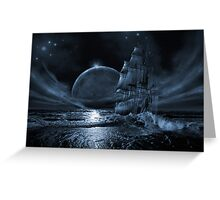 Ghost ship series: Full moon rising Greeting Card