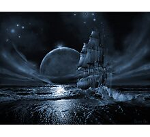Ghost ship series: Full moon rising Photographic Print
