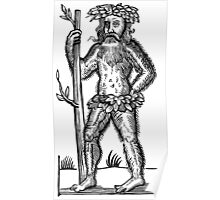 The Green Man - Renaissance Woodcut Poster