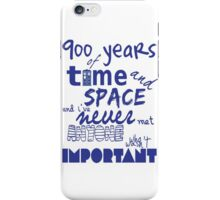 doctor who - 900 years of time and space iPhone Case/Skin