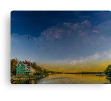 Sunset at Shore Drive Canvas Print