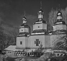 Oldest Wooden Nicholas Church Vinnitsa 1746 by fine