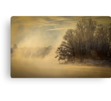 Winter Sunrise On The Wisconsin River Canvas Print