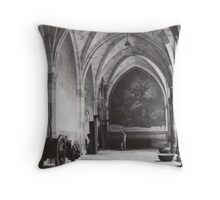 Inside the Cathedral of Saint Mary of Toledo, Spain Throw Pillow