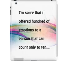 Emotions.. iPad Case/Skin