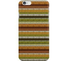 Knitted Pattern Set 9 - Yellow/Green/Brown iPhone Case/Skin