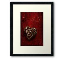Affliction Framed Print