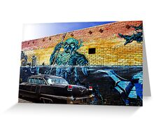 Black Cadillac Greeting Card