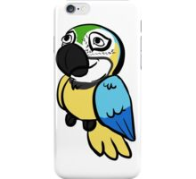 Blue and Gold Peepo iPhone Case/Skin