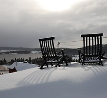 Sunbath in the snow by julie08