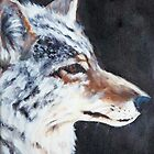 Coyote Portrait by LeftHandPrints