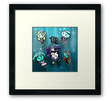 Chibi Water Type Monsters Framed Print