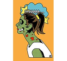 Zombie Pop Art Pin up Skull Photographic Print
