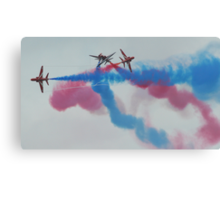 Red Arrows at the weymouth Carnival 3 Canvas Print