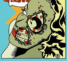 Zombie Pop Art Pin up Skulls and Bones by TBZZ