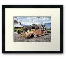 Rusty is Back! Framed Print