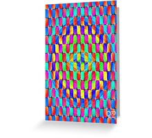 Tumblr 31 by CAP - MAGIC MOVING Optical Illusion Psychedelic Design Greeting Card