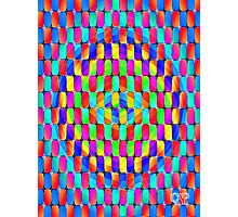 Tumblr 31 by CAP - MAGIC MOVING Optical Illusion Psychedelic Design Photographic Print