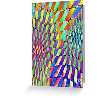 Tumblr 32 by CAP - Colorful Optical Illusion Vibrant Psychedelic Design Greeting Card