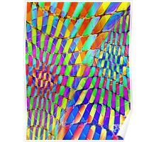 Tumblr 32 by CAP - Colorful Optical Illusion Vibrant Psychedelic Design Poster