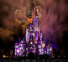 Disney Castle Night by kklile12