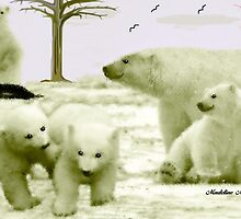 THE POLAR BEAR FAMILY by Madeline M  Allen