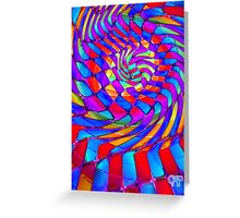 Tumblr 34 by CAP - Magic Optical Illusion Psychedelic Vibrant Colorful Design Greeting Card