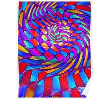 Tumblr 34 by CAP - Magic Optical Illusion Psychedelic Vibrant Colorful Design Poster