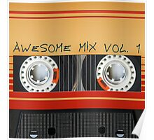 Awesome Mix Cassette Vol. 1 Poster