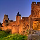The Aude Gate - Cité de Carcassonne (Sunset) by antonywilliams