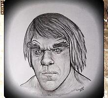 Retro Incredible Hulk drawing by RobCrandall