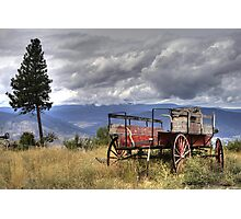 Little Red Wagon of the Wild West Photographic Print