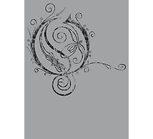 ANTIQUE FILIGREE LETTER OPETH - Destroyed Grey Photographic Print
