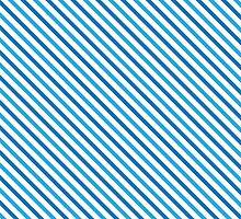 Diagonal Stripes - Blue by wrapsio