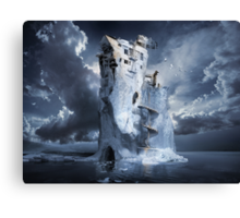 Ice Age Premonition or Infinite Iceberg Synthesizer Canvas Print