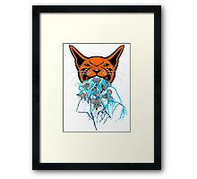 Cat Barf Mouse Heads Framed Print