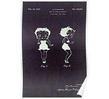 Betty Boop vintage patent from 1932. Poster