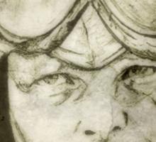 Amelia Earhart drawing Sticker