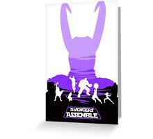 Avengers Assemble Poster Design Greeting Card