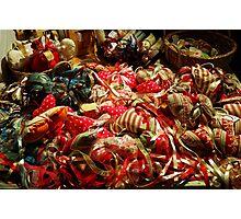 Ribbons and Hearts - Aix-en-Provence Market Photographic Print